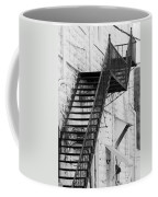 Black And White Fire Escape Usa Near Infrared Coffee Mug