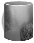 Black And White Foggy Morning Walk Coffee Mug