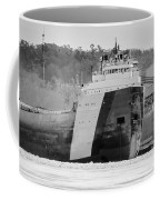 Black And White Freighter Coffee Mug
