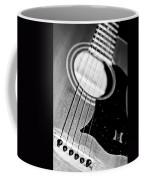 Black And White Harmony Guitar Coffee Mug