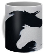 Black And White Horses Together Forever Coffee Mug