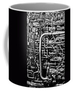 Black And White Jet Engine Coffee Mug by Dan Sproul