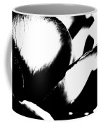 Black And White Layers Of A Rose  Coffee Mug