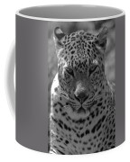 Black And White Leopard Portrait  Coffee Mug