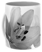 Black And White Lilies Coffee Mug
