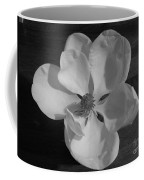 Black And White Magnolia Blossom Coffee Mug