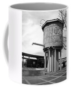 Black And White Of A Water Tower Coffee Mug