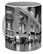 Black And White Pano Of Grand Central Station - Nyc Coffee Mug by David Smith