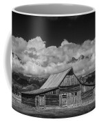 Black And White Photo Of The T.a. Moulton Barn In The Grand Tetons Coffee Mug
