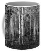 Black And White Photograph Of Birch Trees No. 0126 Coffee Mug