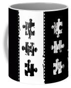 Black And White Puzzles Digital Painting Coffee Mug
