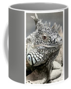 Black And White Saurian Animal Nature Iguana Coffee Mug