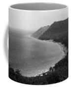Black And White Sleeping Bear Dunes Coffee Mug