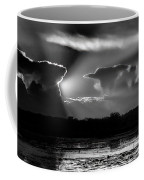 Black And White Sunset Over The Mead Wildlife Area Coffee Mug