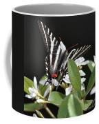 Black And White Swallowtail Square Coffee Mug