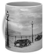 Black And White Swanage Pier Coffee Mug