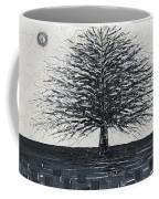 Black And White Snow Cold Winter Tree Coffee Mug