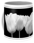 Black And White Tulip Triptych Coffee Mug