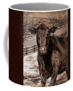 Black Angus In The Field Coffee Mug