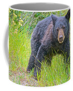 Black Bear Cub Near Road In Grand Teton National Park-wyoming Coffee Mug