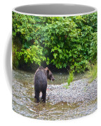 Black Bear Eating A Salmon In Fish Creek In Tongass National Forest-ak Coffee Mug