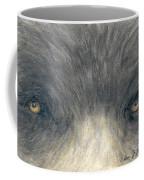 Black Bear Eyes Wildlife Animal Art Coffee Mug