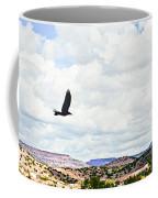 Black Bird In Flight Coffee Mug