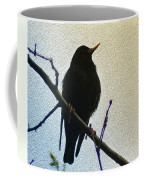 Black Bird Perch Coffee Mug