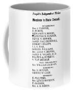 Black Candidates, C1835 Coffee Mug