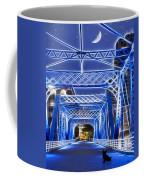 Black Cat Blue Bridge Coffee Mug