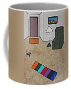 Essence Of Home - Black Cat In Living Room Coffee Mug