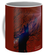 Black Cat In The Moonlight Coffee Mug