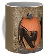 Black Cat On Pumpkin Coffee Mug