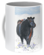 Black Cow Drawing Coffee Mug by Mike Jory