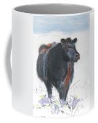 Black Cow Drawing Coffee Mug