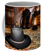 Black Cowboy Hat In An Old Barn Coffee Mug