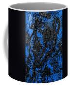 Black Cracks With Blue Coffee Mug