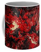 Black Cracks With Red Coffee Mug