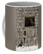 Black Crows At The Old Barn Coffee Mug