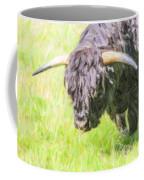 Black Highland Cattle Bull Coffee Mug