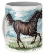 Black Horse Running Coffee Mug