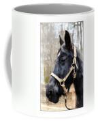 Black Horse Coffee Mug by Susan Leggett