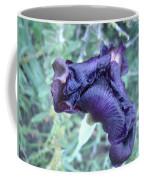 Black Iris Closeup Coffee Mug