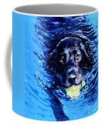 Black Lab  Blue Wake Coffee Mug by Molly Poole