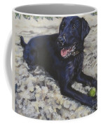 Black Lab On The Beach Coffee Mug