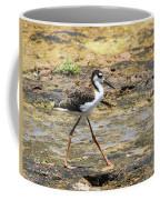 Black Neck Stilt Chick Eats And Eats Coffee Mug