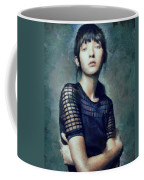 Black On Blue  Coffee Mug