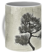 Black Pine Bonsai In Monochrome Coffee Mug