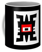 Black Red And White Abstract 0102 Coffee Mug