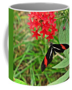 Black Red And White Butterfly Coffee Mug